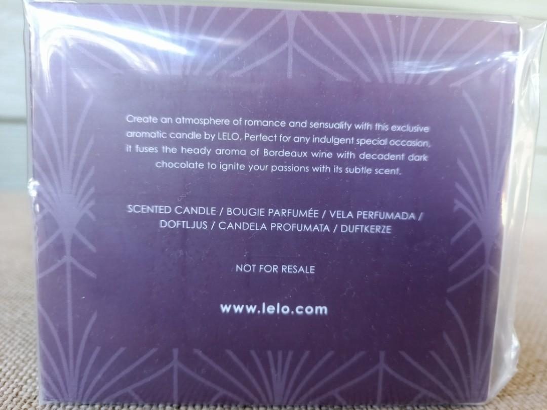 Lelo Bordeaux & Chocolate Candle -smells like grape lollies!