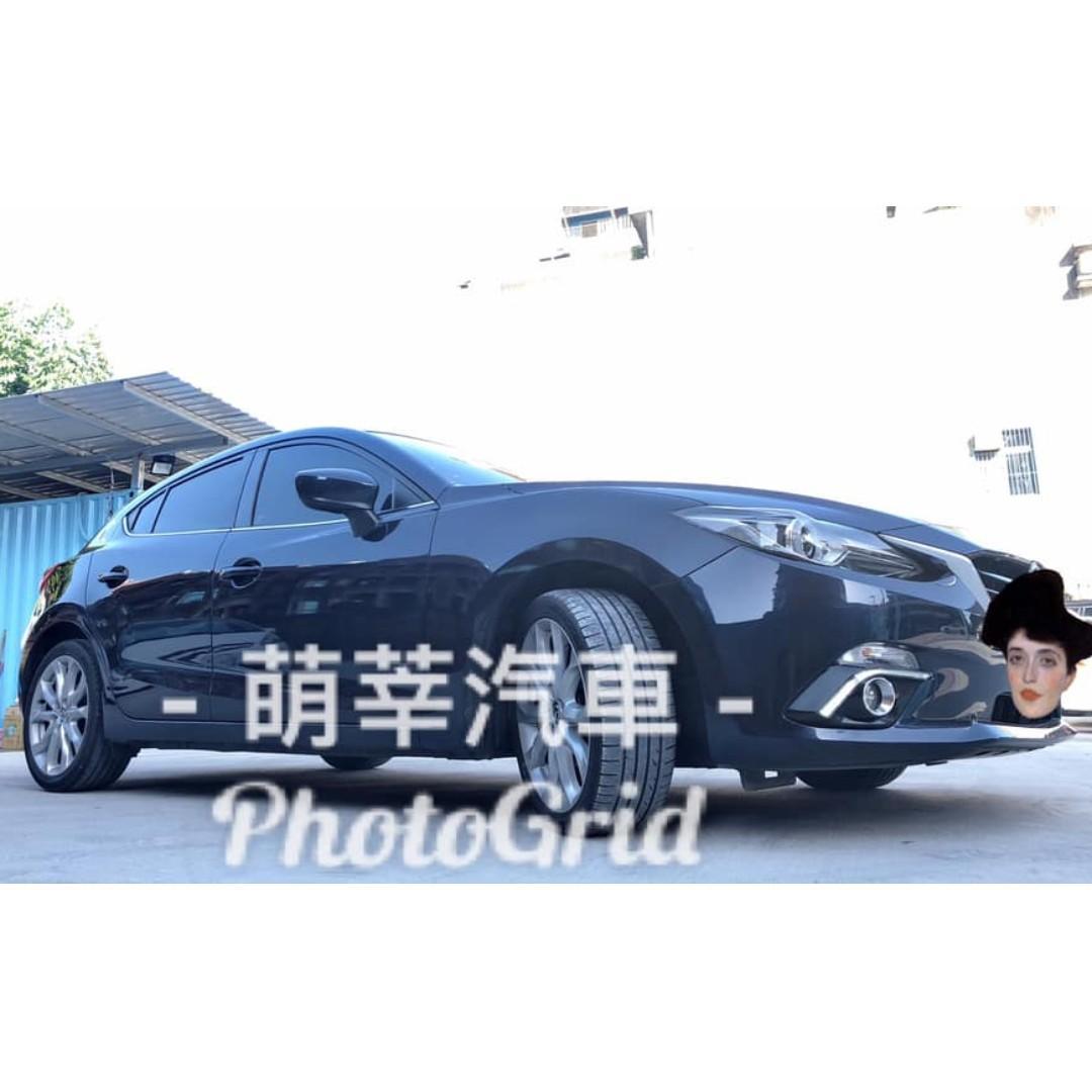 Mazda-M3 5D 2015  寶石藍 頂級型  僅跑6萬