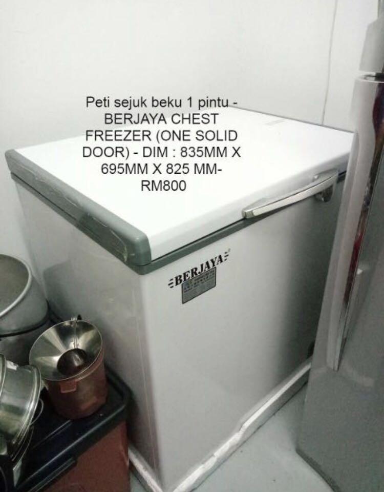 Peti Sejuk Beku Freezer Brand Berjaya