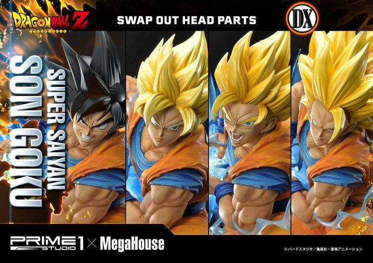 ⚠️PreOrder Deluxe SUPER SAIYAN SON GOKU (DELUXE Version - 4 Heads) by Prime 1 Studio X MegaHouse. 1:4 Scale Statue. PO Closing October.