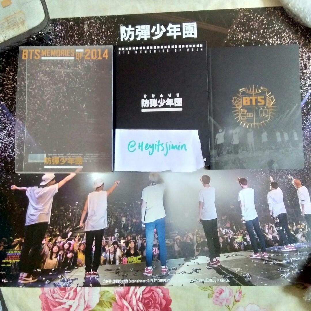 [RARE❗️] BTS MEMORIES OF 2014 DVD + OFFICIAL DVD POSTER
