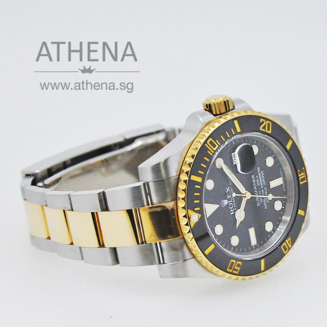 """ROLEX """"HALF-GOLD"""" OYSTER PERPETUAL SUBMARINER DATE CERAMIC """"AN"""" SERIES """"BLACK DIAL"""" 116613LN WLWRL_1142"""