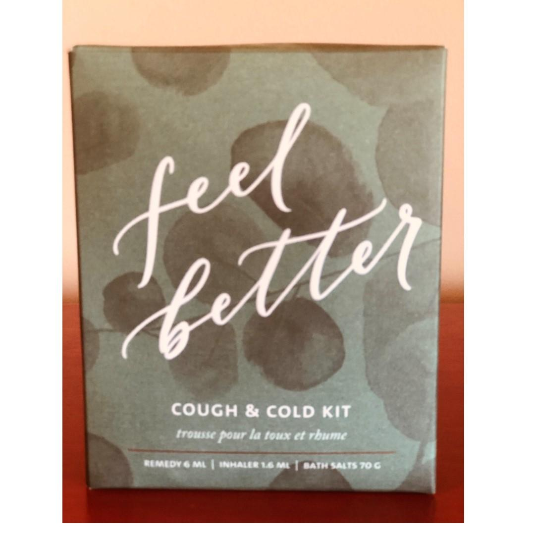 Saje Feel Better Cough and Cold Kit Brand New in Box