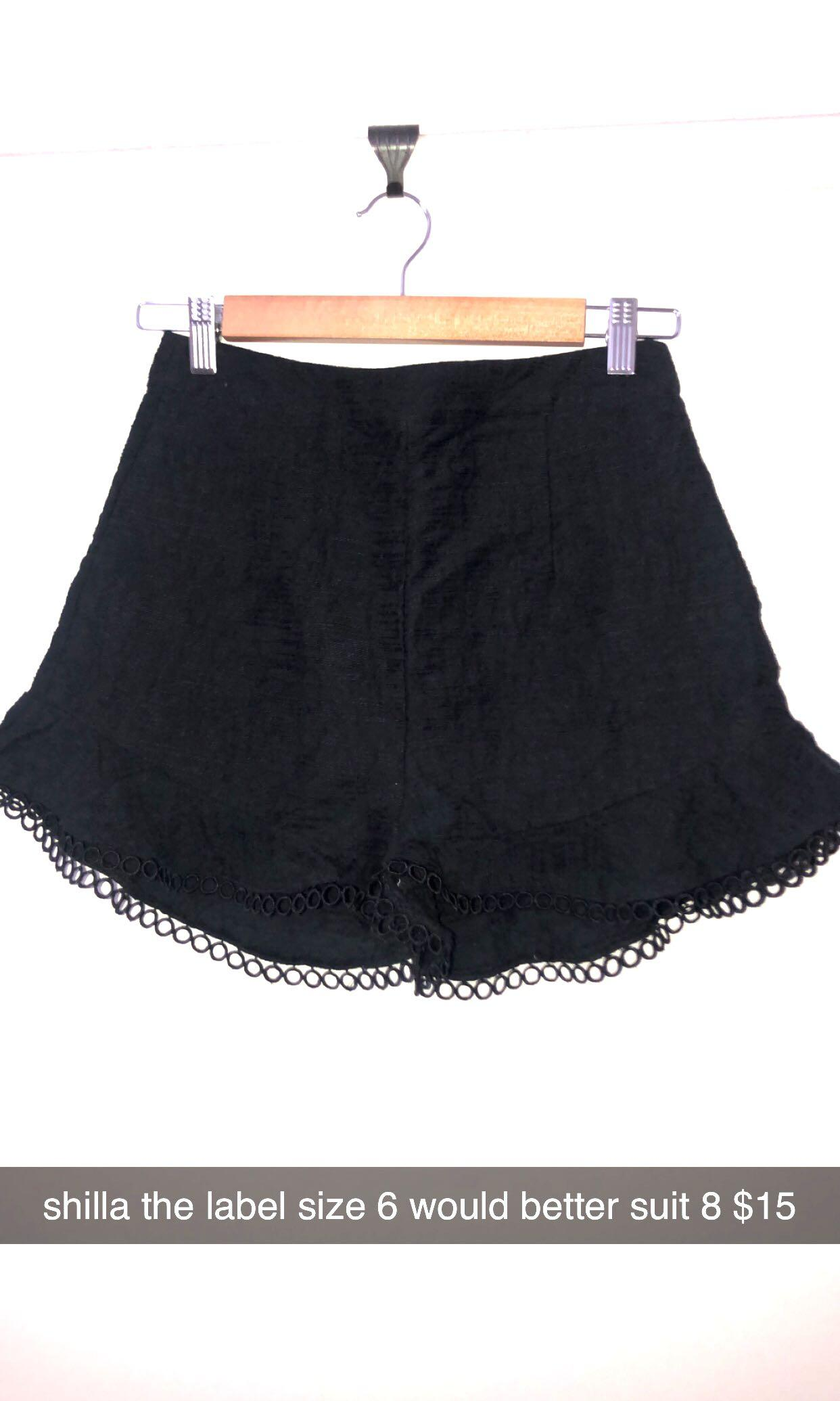 Shilla the label shorts xs