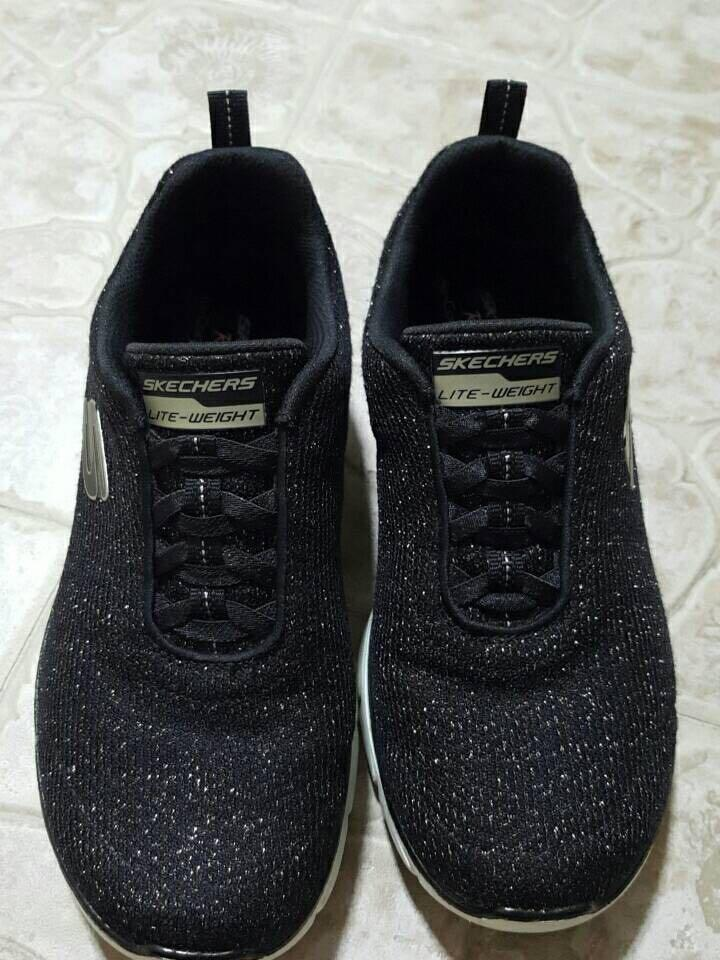 Skechers Black with Glitters Shoes