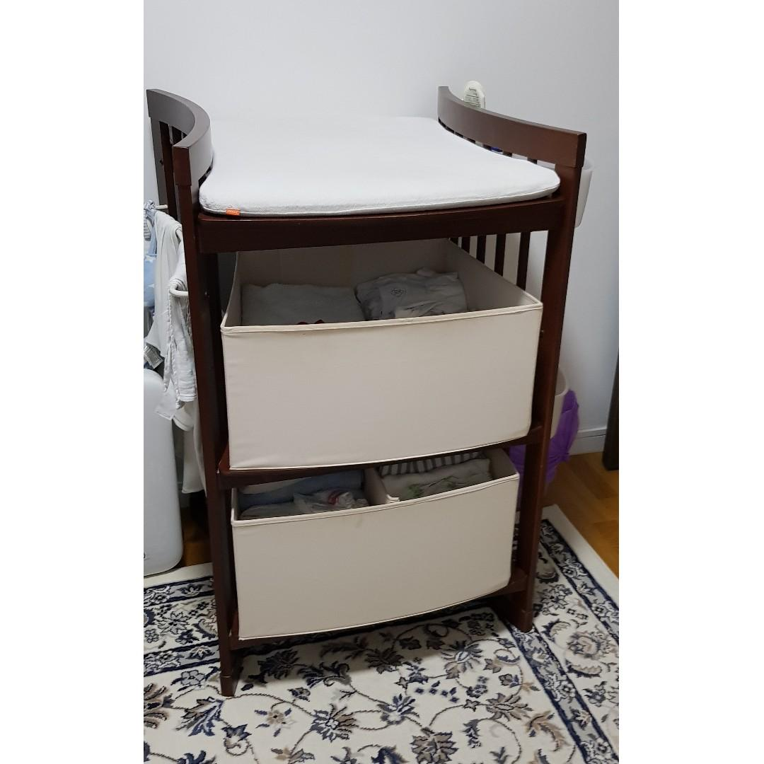 Stokke Changing Table For New Born And Or Toddler Babies Kids Cots Cribs On Carousell