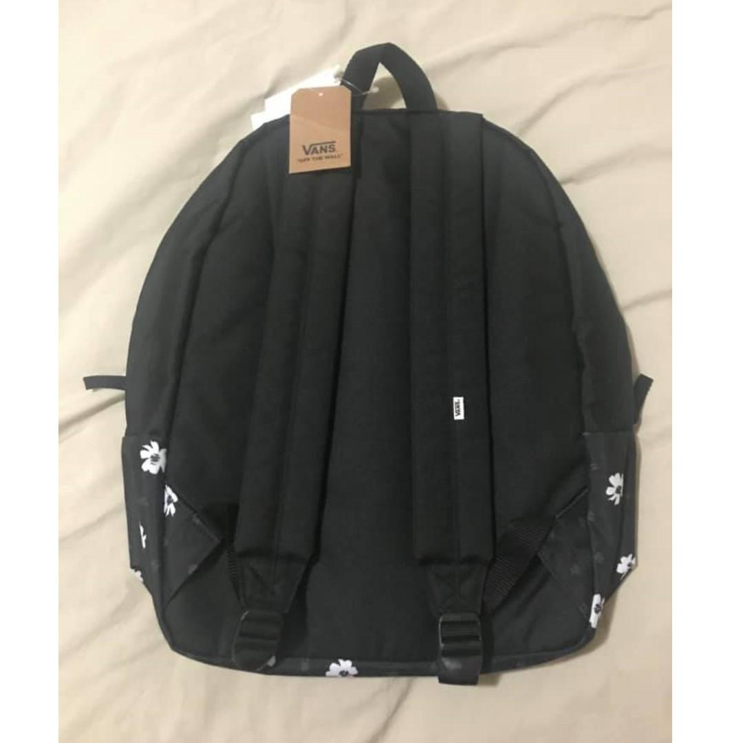 BNWT VANS Realm Classic Backpack Black Abstract Dai