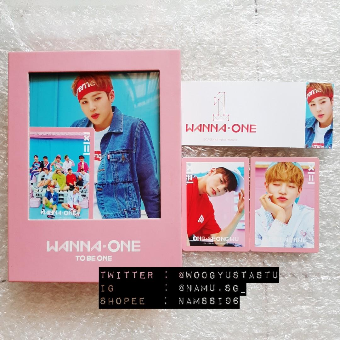 WANNAONE ALBUM TO BE ONE PINK VER (HA SUNGWOON ONG SEONGWOO LEE DAEHWI)