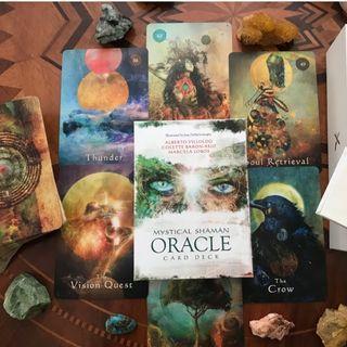 現貨 Mystical Shaman Oracle Cards薩滿奧秘神諭卡英文版 卡牌三件超商免運