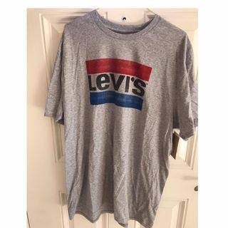Levi's正品灰色大logo上衣(含標)