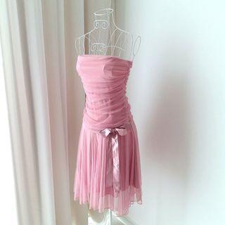 Bebe Dusty Pink Tulle Dress