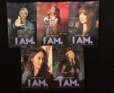 Free shipping FX f(x) I AM official postcards set