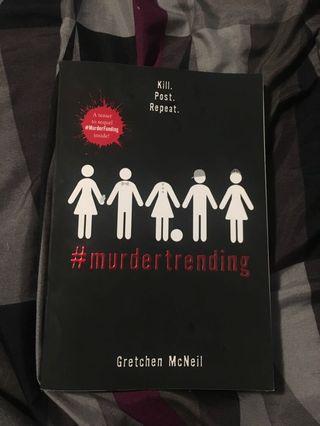 #murdertrending novel