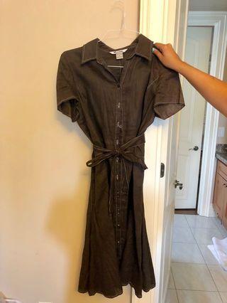 Brown linen dress, size 10