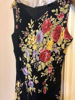 Floral evening dress, great condition!