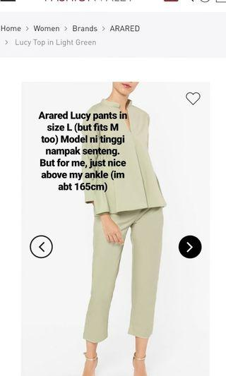 Arared Lucy Pants in Mint Green
