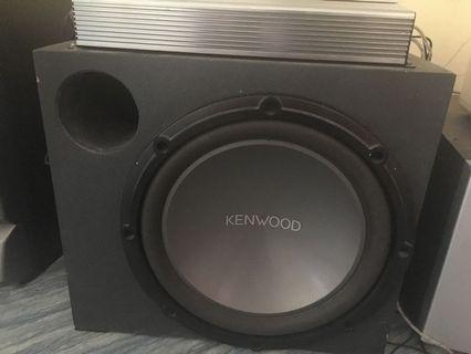 Kenwood subwoofer sekali amp azur cambridge 4channel
