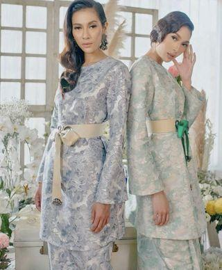 Larney (FV) Brocade Jade Kurung In Mint