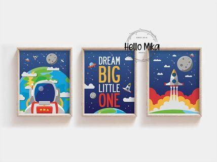 Set of 3 Space Poster