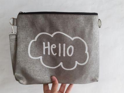 "#joinagustus [NEW] POUCH/SLING BAG ""HELLO"""