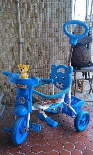 二手小熊踏板手推兩用兒童腳踏車
