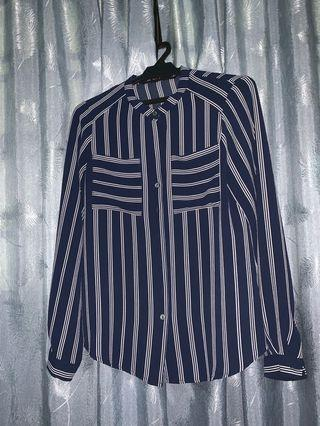 Blue stripped blouse