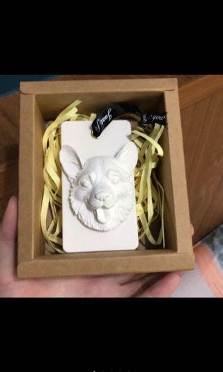 柯基香薰石片 擴香石(含包裝+使用說明卡)婚禮小物/情人節禮物