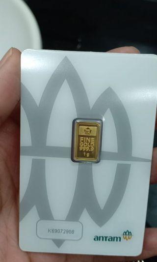 Antam gold bar 1gr emas antam