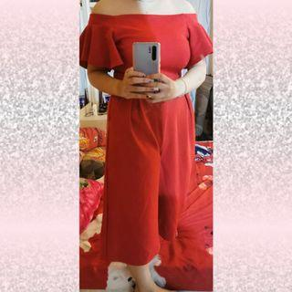 Jumpsuit red sabrina