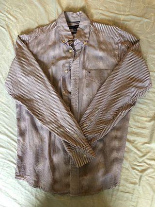 Tommy Hilfiger 淡紫色條紋襯衫 (Size M)