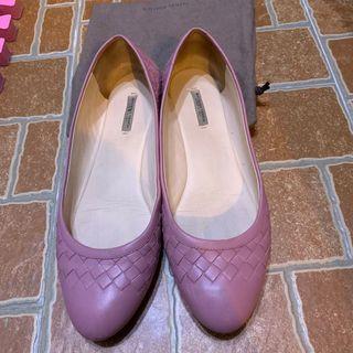 Bottega veneta 粉色平底娃娃鞋 真品