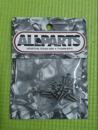 Allparts Stainless steel pickguard screw