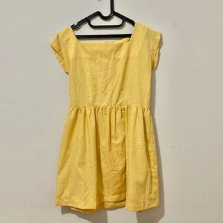 yellow dress - dress kuning