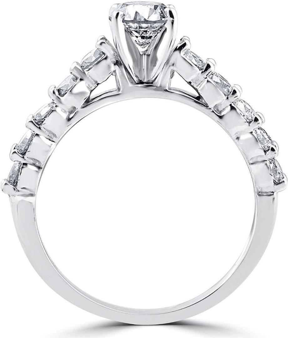 9db3f07f85045 2ct Diamond Engagement Wedding Ring Set 14k White Gold, Luxury ...