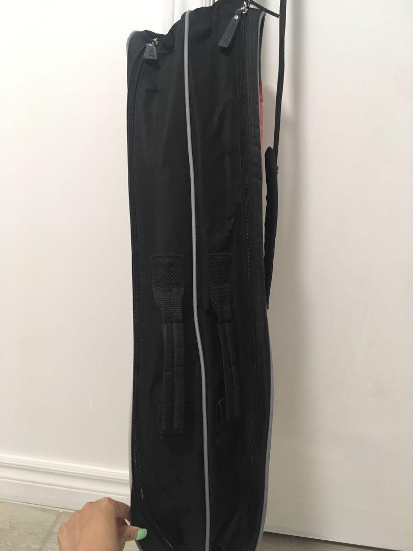 Badminton racket shoulder strap bag with small outer pocket