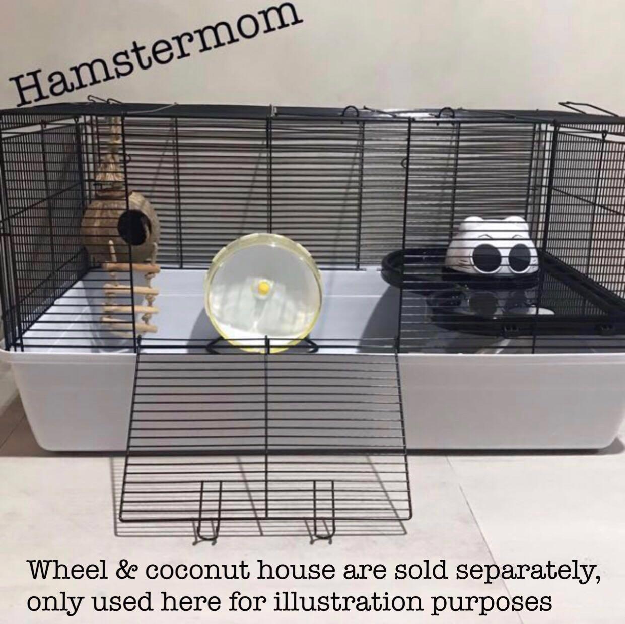 INSTOCK Black Alaska Cage 84cm for Syrian Hamster & Small Animals