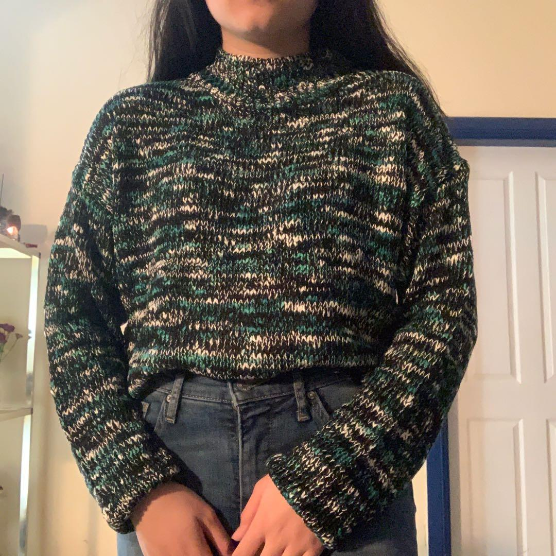 BRAND NEW with tags Navy/Green/White Sprinkle Sweater