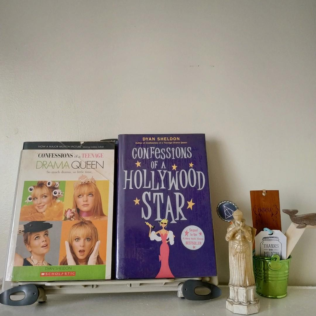 Confessions of a Teenage Drama Queen + Confessions of a Hollywood Star by Dyan Sheldon (SOLD AS SET)