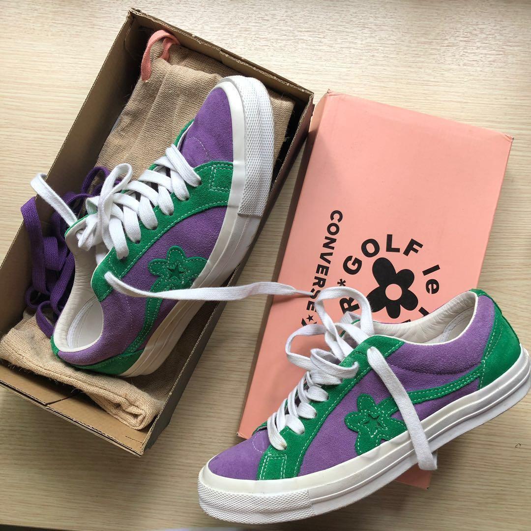 Converse golf le fleur purple green