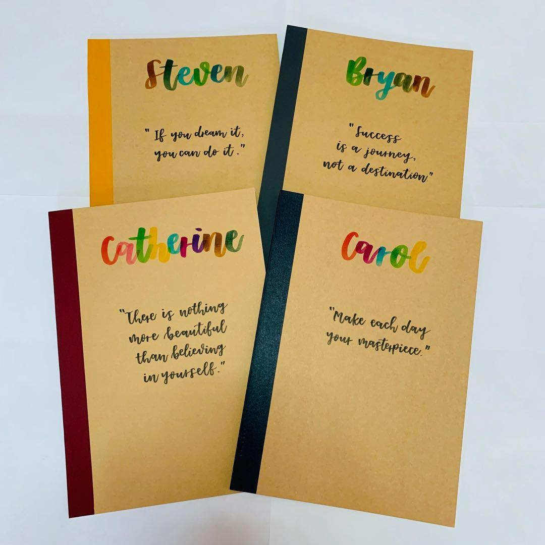 Customised notebook gift gifts Teacher's Day teacher present