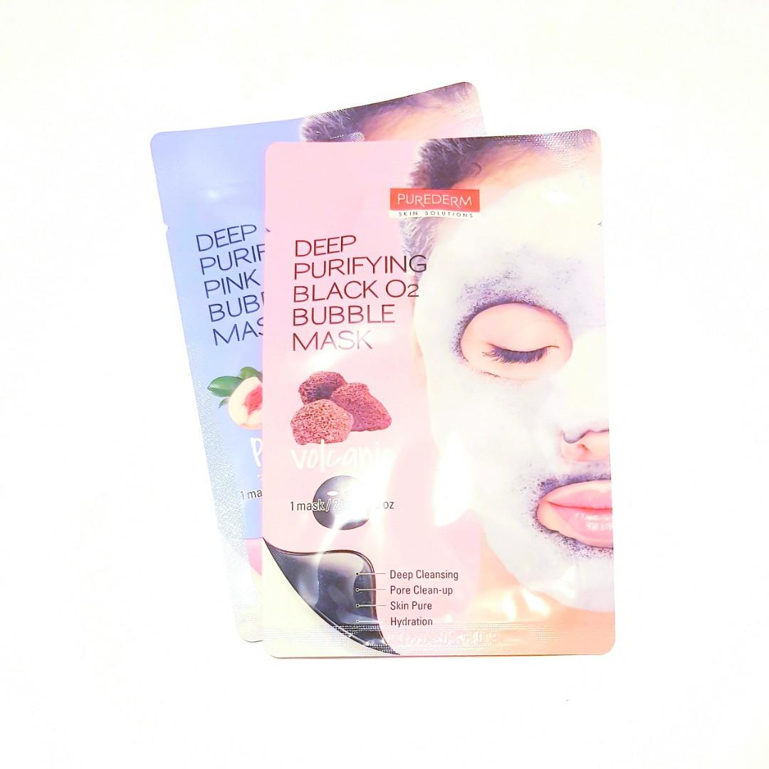 Deep Purifying Face Skin Solutions Volcanic Black O2 Bubble Facial Mask