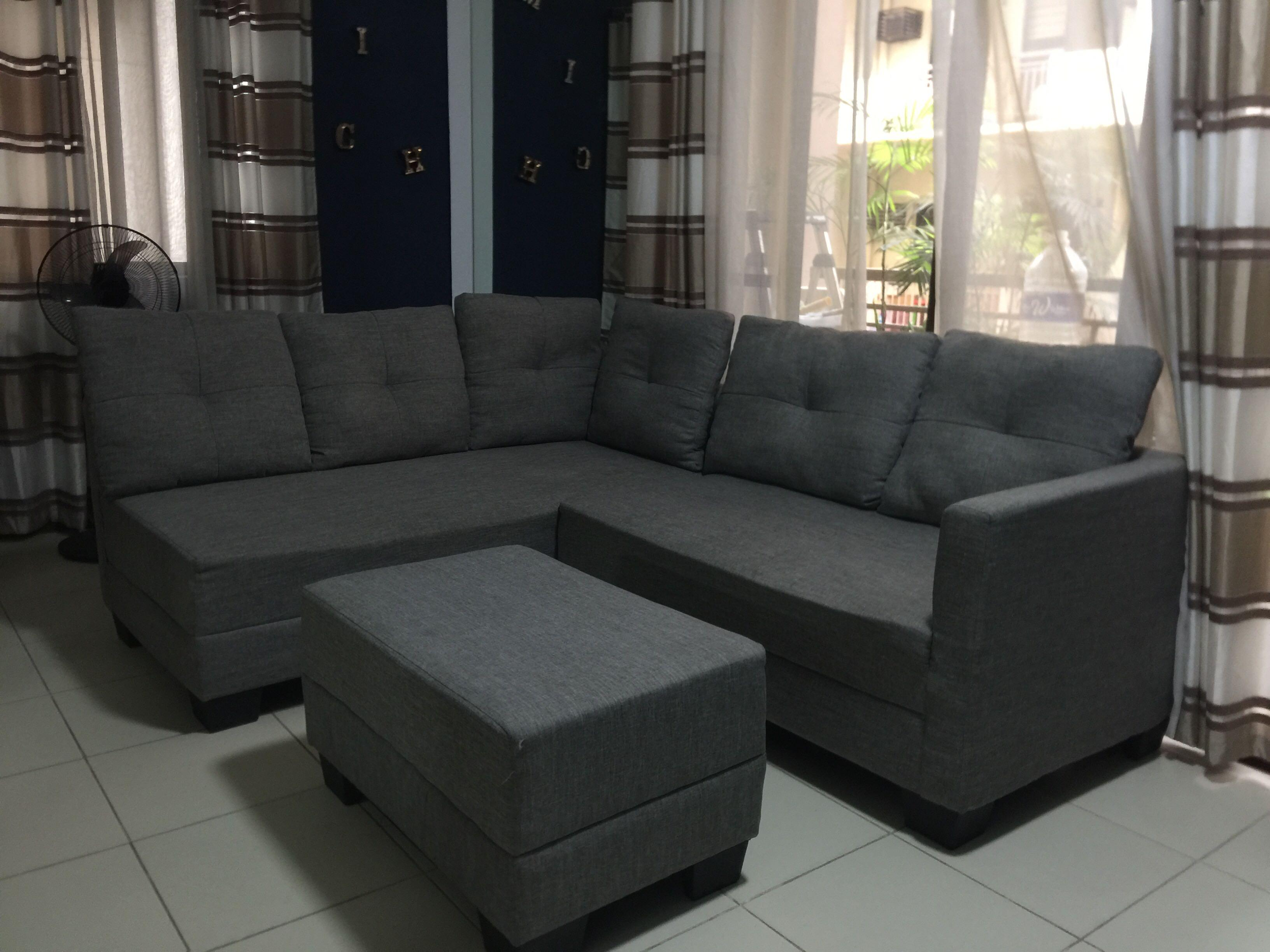 Detachable L Shaped Sofa With Foot Rest