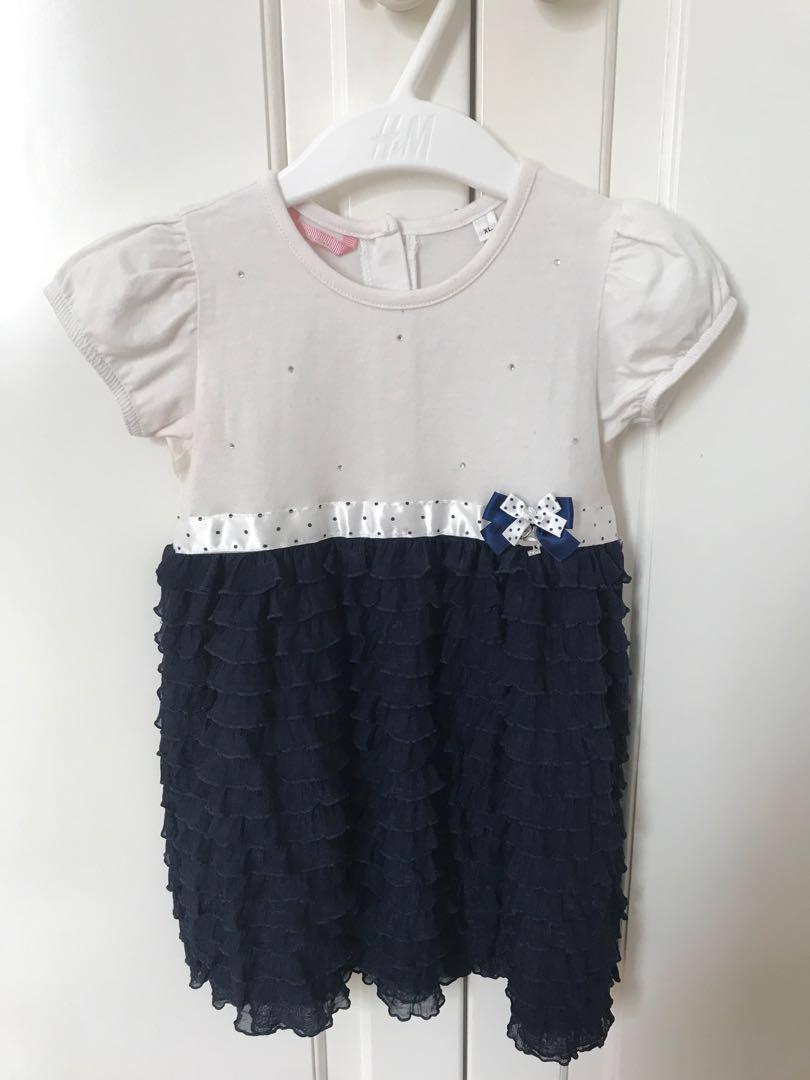 Elegant baby dress for party import from Italy