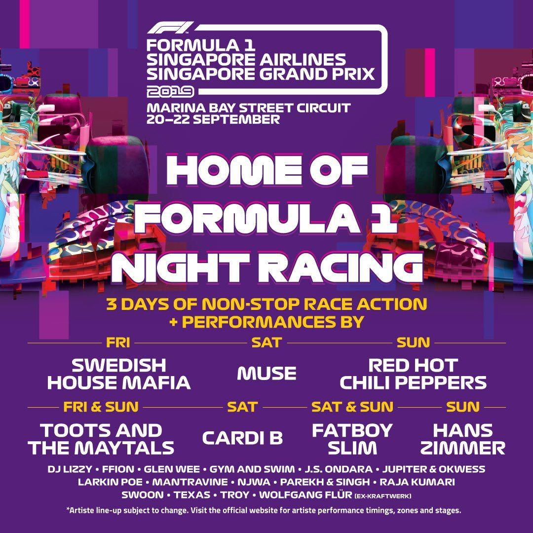 F1 Concert Zone 4 Walkabout Saturday Tickets