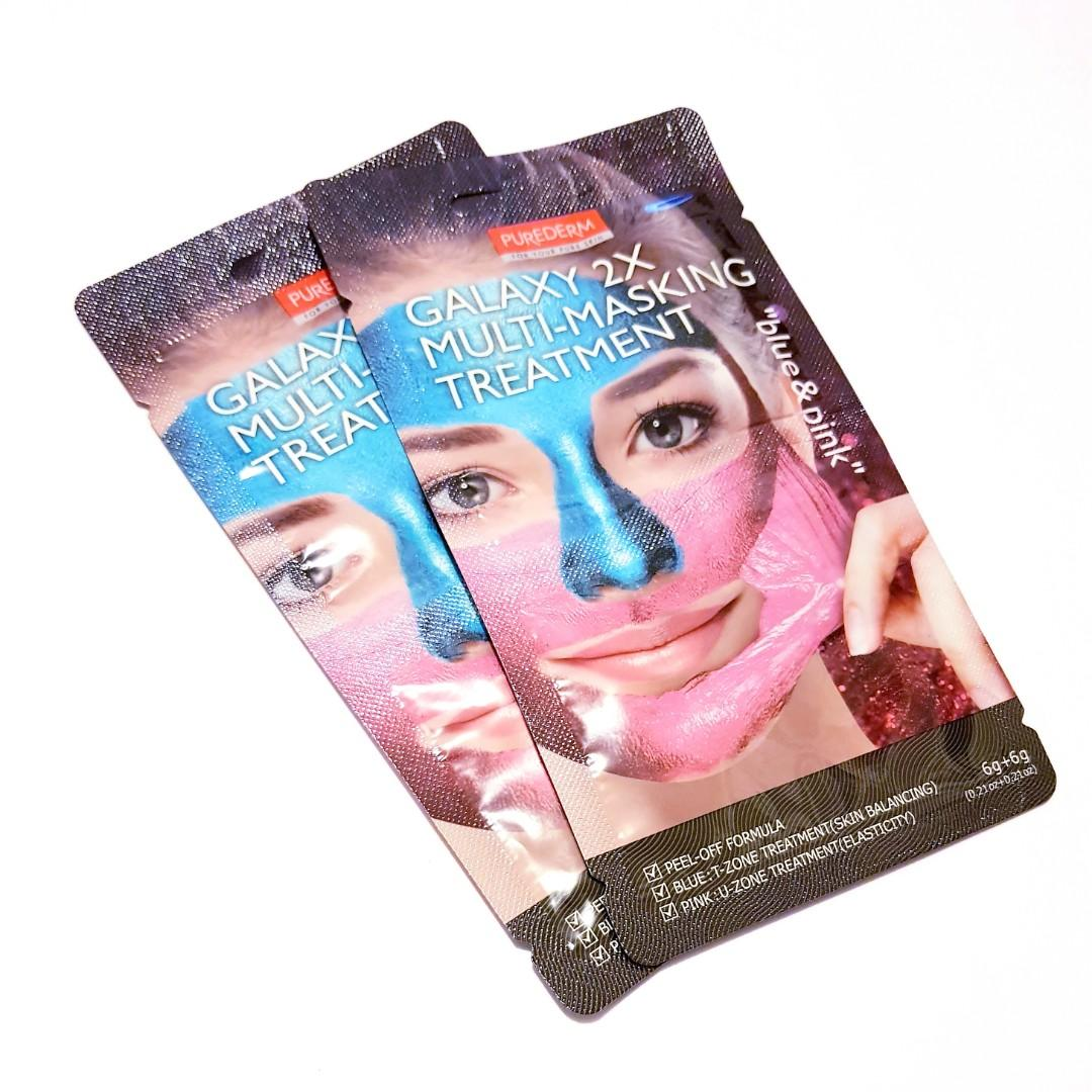 Galaxy Multi-masking Treatment For Your Skin Facial Blue & Pink Peel Off Face Mask