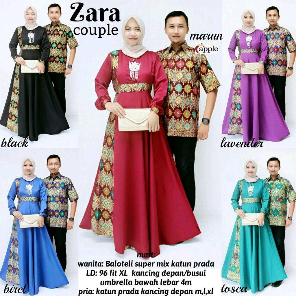 Gamis Batik Couple Set Zara