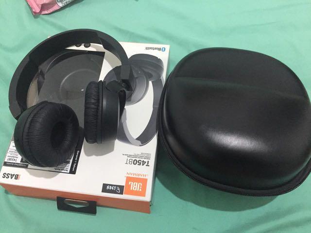 Headphone JBL T450BT wireless black w/ case