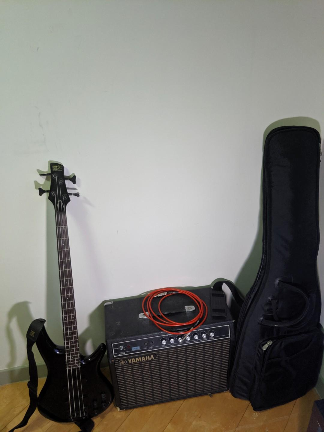 Ibanez Bass Guitar and Yamaha Amplifier