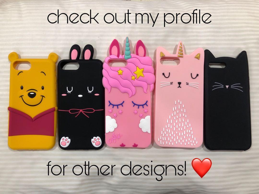 iPhone 7plus / 8plus Full-Covered Silicon Case (Rabbit)