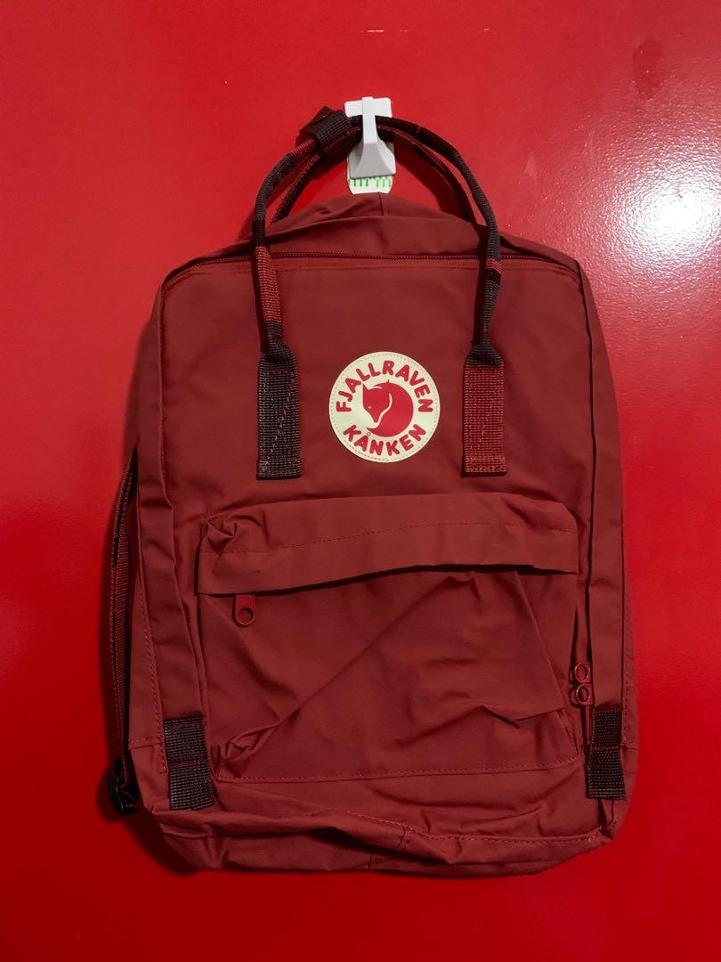 Kanken limited version_Red ox with patterned straps